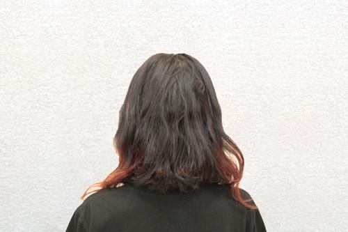 ブロー前のぼわぼわ髪