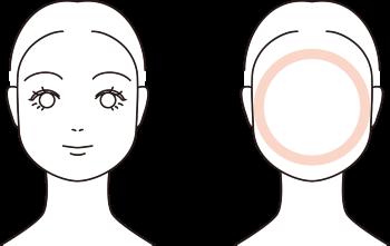 丸顔モデルイラスト