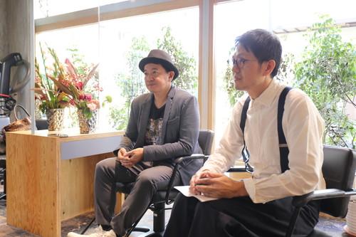 左:ヒカリスヘアー常務 永井正彦さん 右:吹田店店長 笠原泰正さん