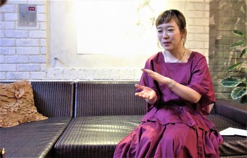 玉置明日香さんインタビュー風景